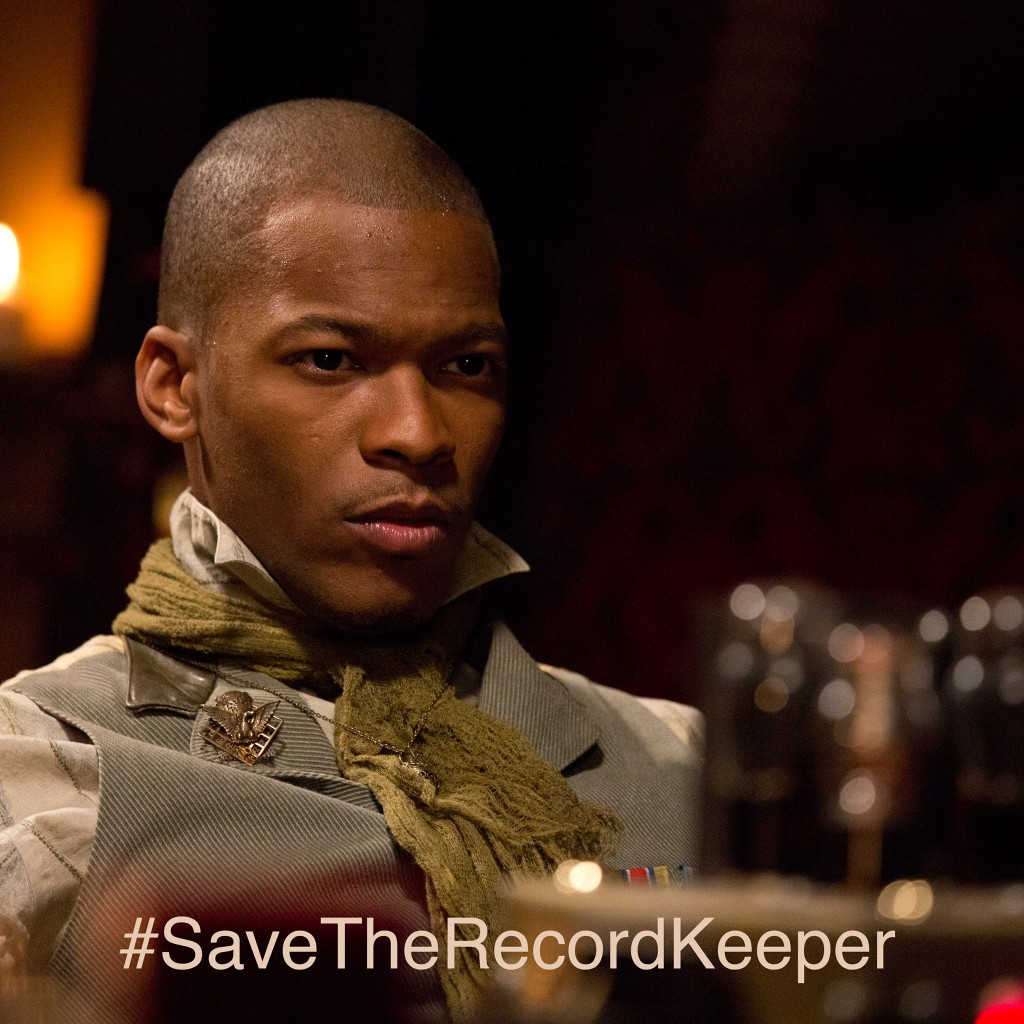 Jason Hill as Larus, an angel in The Record Keeper