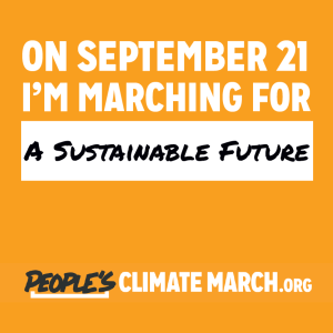 """On September 21, I'm marching for a sustainable future."""