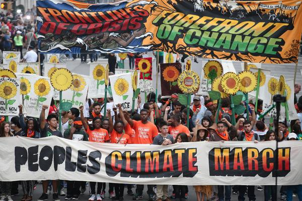 The frontline of the People's Climate March (2014) | Photo credit: NYC Environmental Justice Alliance